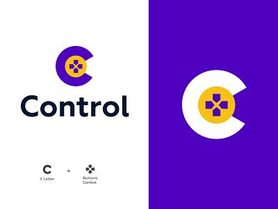 Control logo design concept buttons programe game control modern lettermark monogram brand logo design logodesign branding logo