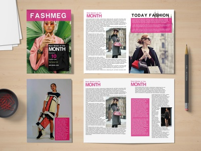 Fashion Magazine professional print ready print modern minimalist minimal magazine design magazine free use fashion show fashion profile fashion news fashion catalog fashion advert fashion design creative clean advertisement advert