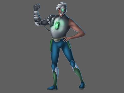 Cyborg sketch drawing punk cyborg painting wacom art character design design character