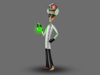 Mad Scientist art sketch painting drawing cartoon scientist mad design character design character