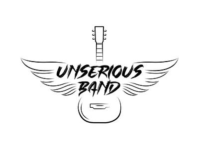 Rock band logo logotype wings guitar band rock vector logo design logo