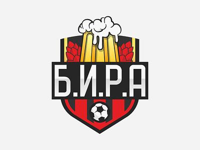 Football team badge vector beer football logo emblem team logo badge team football