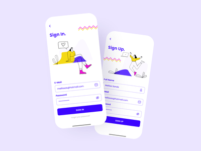 Sign In & Sign Up uiuxdesign ui design user interface designer user interface design uiux uxui userinterface uiuxdesigner uidesign ui