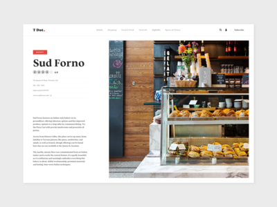 T Dot - Sud Forno review rate webdesign ui typography type publication editorial blog article