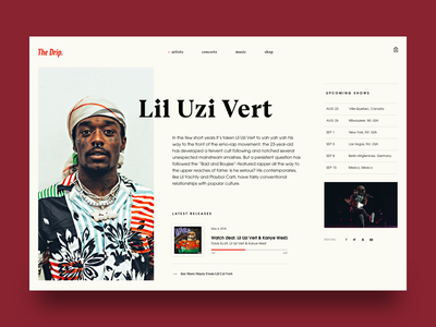 The Drip. artist page bio video song lil uzi vert artist type editorial music rap hip hop
