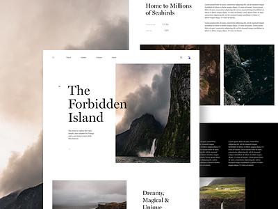 The Forbidden Island  Article guide culture travel faroe island editorial magazine ui article