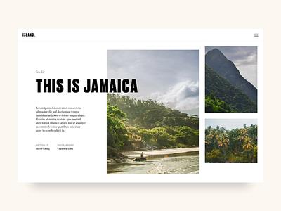 This is Jamaica beach jamaica island caribbean tourism editorial typography mountain tropical
