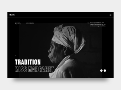 Miss Margaret black and white black  white culture tropical caribbean typography editorial tradition island