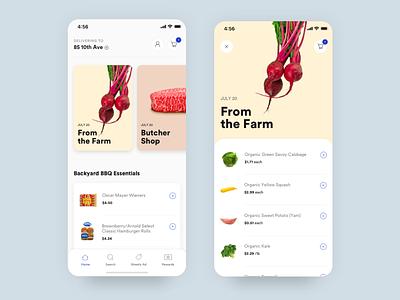 Grocery App uidesign groceries grocery app ui uiux ios food ecommerce mobile app grocery