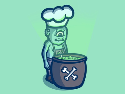 CHEF / INKTOBER DAY 22 procreateapp cartoon character design cartoon illustration cartoon character inktober chef chef inktoberday22 inktober2020 spooktober vectober inktober weekly challenge weekly warm-up dribbbleweeklywarmup weeklywarmup