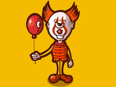 OMINOUS / INKTOBER DAY 30 character design procreate cartoon illustration dribbbleweeklywarmup weeklywarmup halloween spooktober vectober inktoberday30 inktober2020 ominous inktober cartoon character clowns clown pennywise