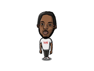 KENDRICK LAMAR character illustration cartoon character design fan art kendrick lamar fan art procreate cartoon illustration cartoon character music artist rappers bobblehead fan art bobblehead musician rapper