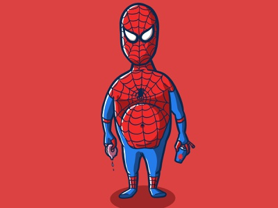 JUNK FOOD SPIDERMAN cartoon procreate cartoon character character design cartoon illustration soda donut junk food fanart spiderman fanart marvel fanart marvelcomics marvel spidermanfanart spoderman spiderman