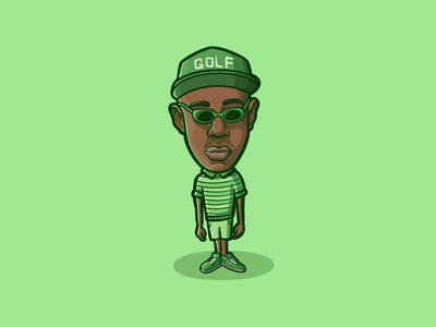 TYLER, THE CREATOR loiter squad procreate cartoon illustration musician rapper hiphop artist hiphop wolf goblin flower boy igor portrait odd future oddfuture golf golfwang tylerthecreator tyler the creator tyler