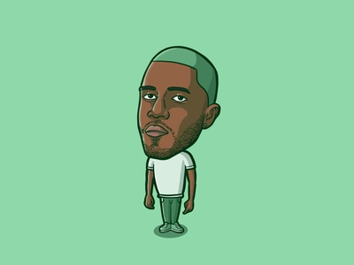 FRANK OCEAN blue blond illustration character illustration cartooning procreate cartoon character cartoon illustration fan art fanart frank ocean fanart frank ocean art frank ocean protrait blonded frank ocean