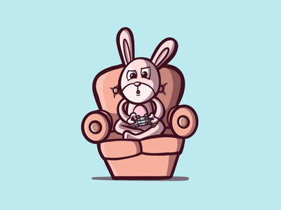 BUNNY videogames rabbit bunny cartooning procreateapp character illustrator character illustration cartoon illustration cartoon character character design procreate cartoon illustration