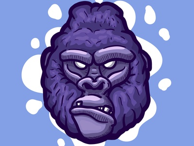 GORILLA angry character design cartooning illustration cartoon character cartoon procreate cartoon illustration chimp ape monkey gorilla drawing gorilla