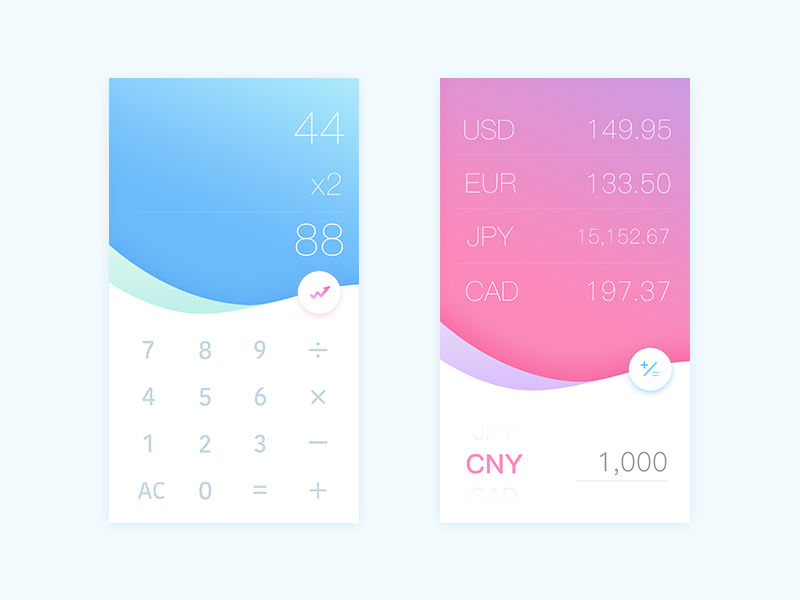 Daily Ui #04 Calculator exchange rate daily ui calculator
