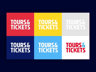 Tours & Tickets after effects logoanimation animation flat colors brand logo identity motiongraphics motiondesign motion
