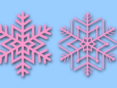 Pink snowflake five vector set for cards, invitation, background group variation symbol ice shape seasonal decoration snow set frozen winter abstract crystal icon holiday vector cutout christmas 2021 snowflake