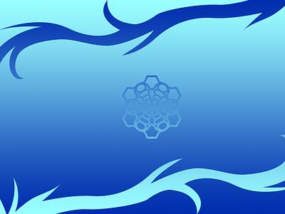 Simple Blue Background minimal illustration design