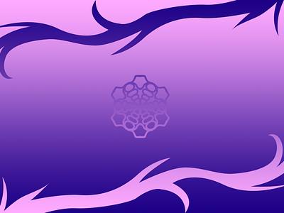 Simple Purple Background minimal illustration design