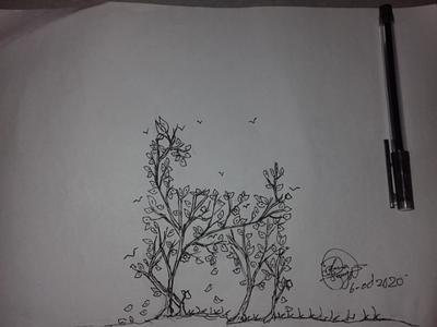 Gel pen art