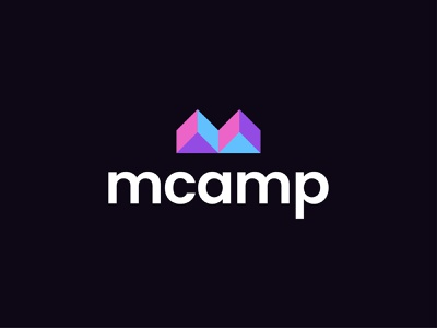 Mcamp Logo Design-Camp + Home +LetterM happy happy camp camper nature tent minimal design logos creative brand identity icon illustraion app house animal forest camping letterm home mcamp