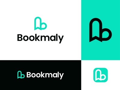 Bookmaly Logo Design -bookmark +drop - Letter B clean flat logo books guides marketres book idea brand vector creative logo icon modern minimal dribbble logo agency fun letterb drop bookmark mark
