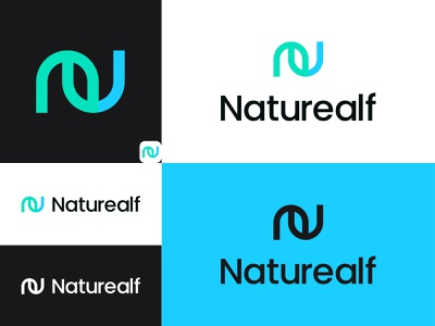 Naturealf Logo leaves naturealf naturealf flower agency ui creative illustration simple design minimal plant symbol tree forest grow logo identity brand leaf