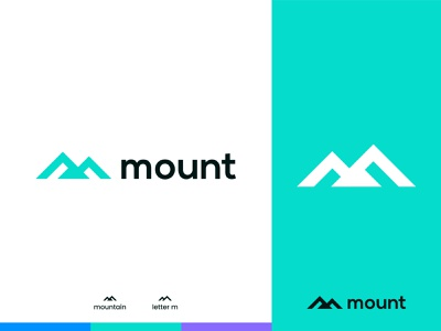 Mount Logo Design investment flat logo monoline mark m modern lettermark peak mountain art branding design nature minimal line colors logos trends vector icon icons symbol graphic design brand branding identity