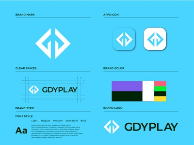GDYPLAY Logo Mark abstract symbol popular logo logo designer opqrstuvwxyz abcdefghijklmn alphabet logo player playfull modern logos concept minimal logos mark branding brand identity play logo media logo music video logo