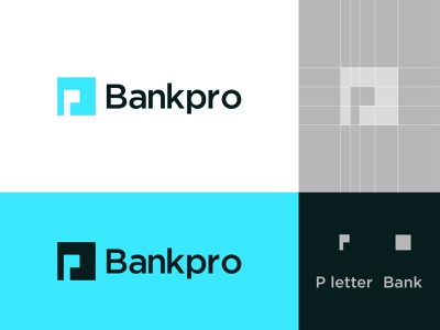 Bankpro Logo Mark app icon minimalist logo bank logo p letter logos modern logo 2021 money transfer currency exchange online money transfer logo logotype flat illustration branding business financial service credit card banking online banking bank card idenity
