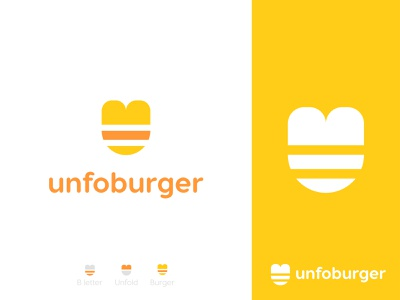 unfoburger logo design fast food logo identity design burgers agency brand identity b letter logo negativespace logo mark food logodesign logotype fastfood logo branding burger colors brand icon idenity illustration