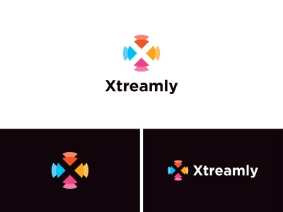 Xtreamly Logo Design leaf monogram logotype x logo negative space branding illustration design brand identity logo mark minimalist colorfol modern clever apps icon unused logo design for sale logos available