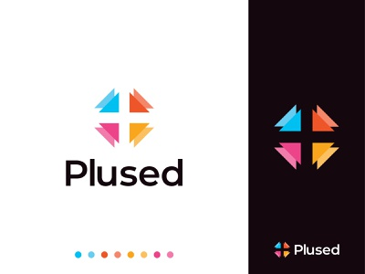 Plused Logo Design illustration brand identity branding mark logo design concept colorful health medicine medical logo pharma pharmacy logotype typography plus vector typeface symbol app icon design lettermark lettering