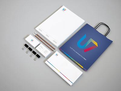 U7 logo illustrator vector logo design branding