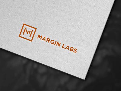 Margin Labs Logo analytics chart market finance typography corporative e-commerce vector logo illustrator branding design