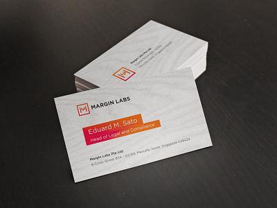 Margin Labs Visit Cards identity design identity illustrator vector visit card design logo branding
