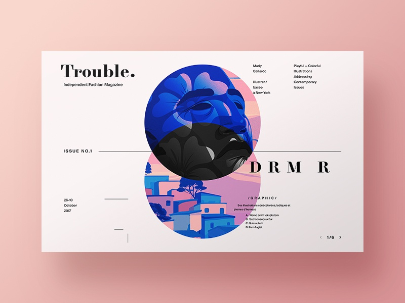 Trouble  - Fashion Magazine Exploration by Nick Taylor on Dribbble