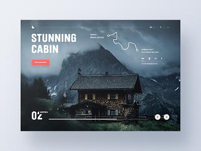 🗻 Travel Exploration header ux ui website main page landing page design nature clean austria promo web