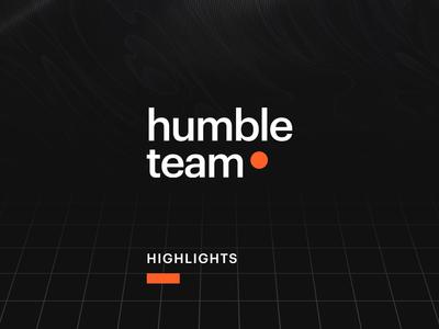 Humbleteam Motion Exploration shape form typography logo branding illustration story instagram highlight clean grid black exploration motion graphic design animation