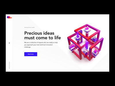 DBL - Development company website interaction landing page scroll promo main page cinema4d animation motion visual 3d interaction website web design clean ui