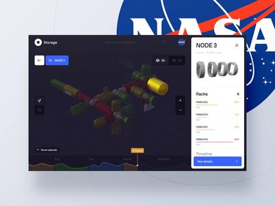 NASA ISS Management Interface module store management iss nasa spacex space interaction app web design clean ux ui cinema4d animation 3d
