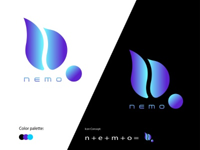 Nemo | N logo | App Icon | Modern Logo | Minimalist logo e logo custom logo logotype m logo letter n logo logo design lettermarklogo lettermark iconic logo flat branding brand modern logo logo minimalist logo creative logo brand identity app icon app