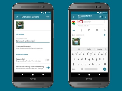 Secure File Sharing and Messaging app