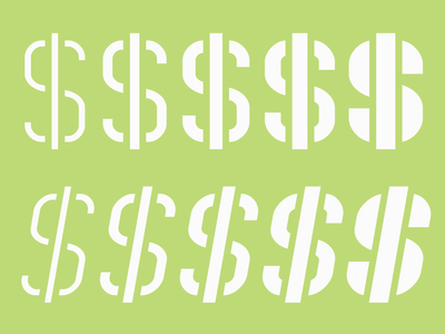 The styles of Technical Stencil VP green stencil type design type design typeface typography font