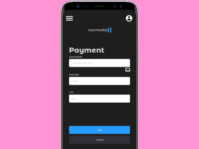 Payment Page Dark Mode dailyui