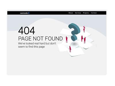 404 Page app minimal website web illustration ui branding ux dailyui design