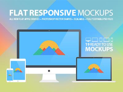 All New Flat Responsive Mockups